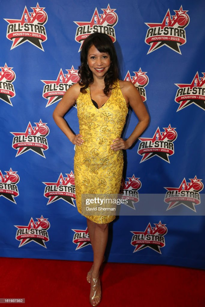 Singer and Actress Gloria Reuben poses on the All-Star Red Carpet prior to the 2013 NBA All-Star Game presented by Kia Motors on February 17, 2013 at the Toyota Center in Houston, Texas.