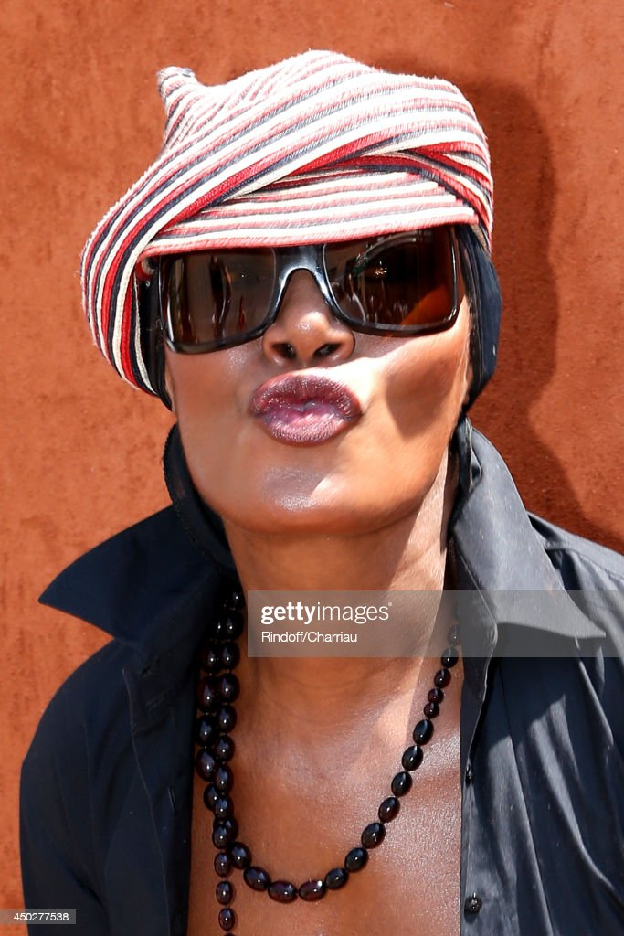 Singer and actress <a gi-track='captionPersonalityLinkClicked' href=/galleries/search?phrase=Grace+Jones+-+Performer&family=editorial&specificpeople=156417 ng-click='$event.stopPropagation()'>Grace Jones</a> attends the Men's Final of Roland Garros French Tennis Open 2014 - Day 15 on June 8, 2014 in Paris, France.