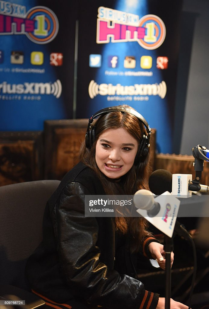 Singer and actress <a gi-track='captionPersonalityLinkClicked' href=/galleries/search?phrase=Hailee+Steinfeld&family=editorial&specificpeople=7223409 ng-click='$event.stopPropagation()'>Hailee Steinfeld</a> attends SiriusXM Hits 1's The Morning Mash Up Broadcast From The SiriusXM Studios In Los Angeles on February 12, 2016 in Los Angeles, California.