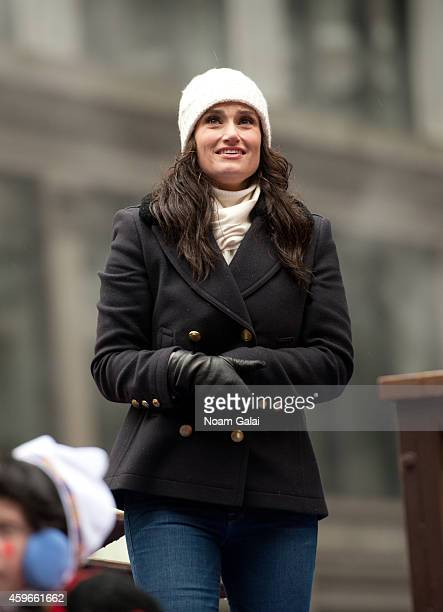 Singer and actress Idina Menzel attends the 88th Annual Macys Thanksgiving Day Parade at on November 27 2014 in New York New York