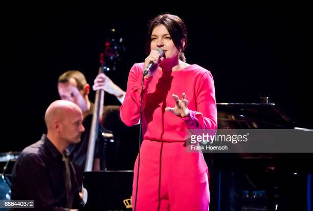 Singer and actress Jasmin Tabatabai performs live on stage during a concert at the Heimathafen Neukoelln on May 25 2017 in Berlin Germany