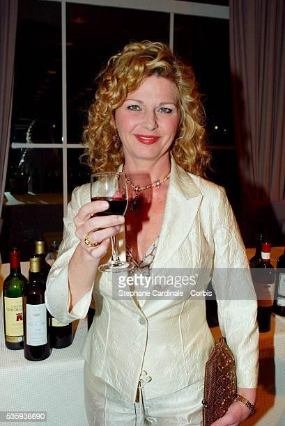 Singer and actress Jeane Manson attends the Bordeaux wine presentation at Pavillon Gabriel in Paris
