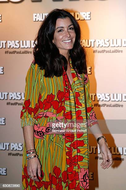 Singer and actress Jenifer Bartoli attends the 'Faut pas lui dire' Paris Premiere at UGC Cine Cite Bercy on January 2 2017 in Paris France