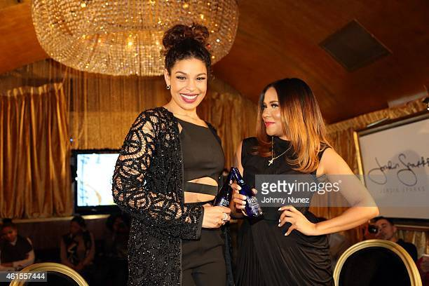 Singer and actress Jordin Sparks and radio/ TV personality Angela Yee attend Intimate Conversations With Jordin Sparks at Gold Bar on January 14 2015...