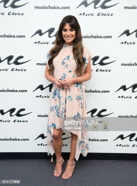 Singer and actress Lea Michele visits Music Choice on April 27 2017 in New York City