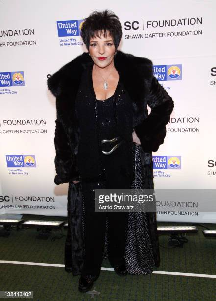 Singer and actress Liza Minnelli attends the JayZ Concert To Benefit The United Way Of New York City And The Shawn Carter Foundation at Carnegie Hall...