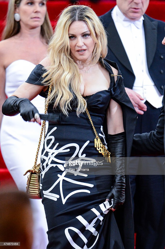 Singer and actress Madonna leaves the Metropolitan Museum of Art on May 4 2015 in New York City