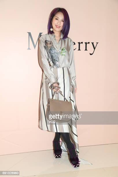 Singer and actress Miriam Yeung attends Mulberry event on June 1 2017 in Hong Kong China