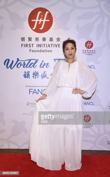 Singer and actress Miriam Yeung attends the First Initiative Foundation event on June 21 2017 in Hong Kong China