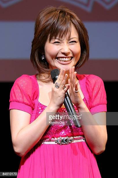 Singer and actress Natsumi Abe attends the 'High School Musical 3 Senior Year' Japan Premiere at Shinagawa Stellar Ball on January 28 in Tokyo Japan...