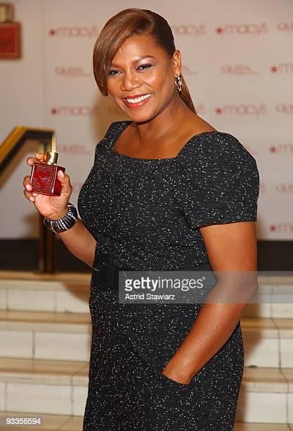 Singer and actress Queen Latifah promotes 'Queen' fragrance at Macy's Herald Square on November 24 2009 in New York City