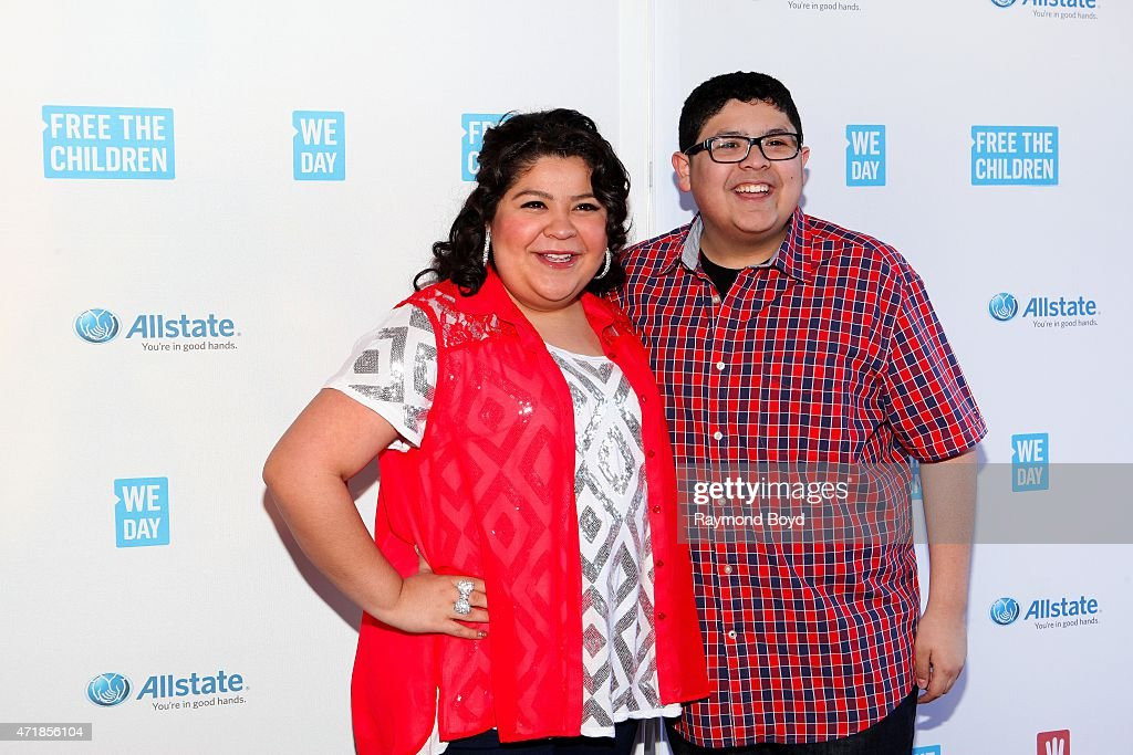 Singer and actress Raini Rodriguez from the television show 'Austin Ally' and her brother actor Rico Rodriguez from the television show 'Modern...
