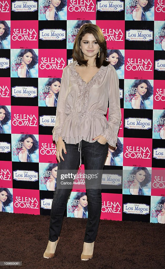 Singer and actress Selena Gomez presents her new album 'A Year Without Rain' at the ME Hotel on October 18 2010 in Madrid Spain