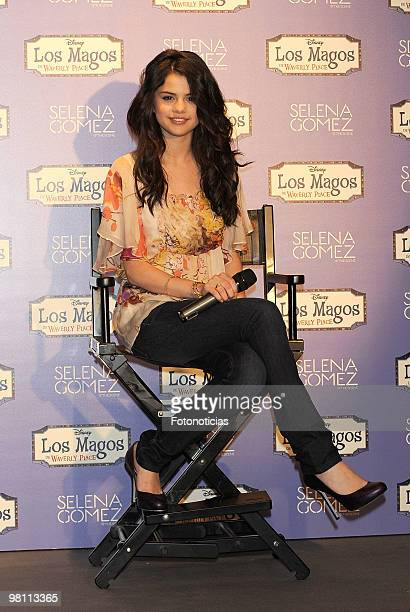 Singer and actress Selena Gomez presents her new album 'KISS TELL' at Disney Channel on March 29 2010 in Madrid Spain