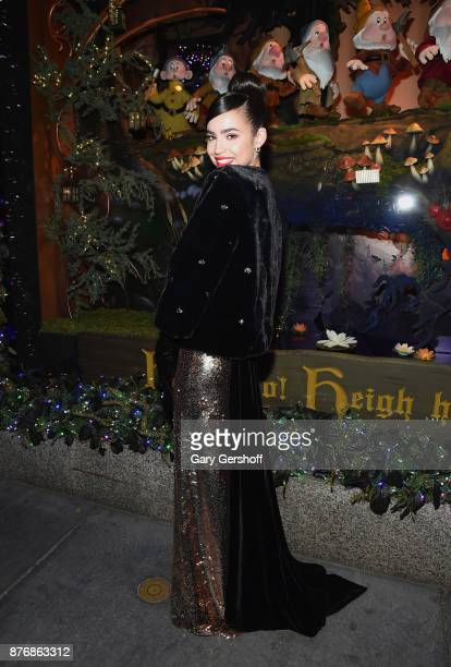 Singer and actress Sofia Carson attends the 2017 Saks Fifth Avenue Disney 'Once Upon a Holiday' windows unveiling at Saks Fifth Avenue on November 20...