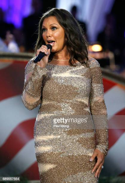 Singer and actress Vanessa Williams performs at PBS' 2017 National Memorial Day Concert at US Capitol West Lawn on May 28 2017 in Washington DC