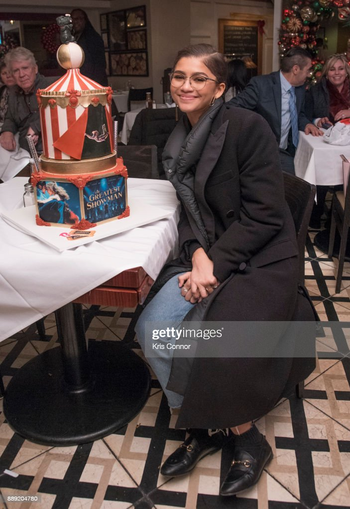 Singer and Actress Zendaya takes photo of her Cake by BCakes NY for Bobby Van's CPS at Bobby Van's CPS on December 9, 2017 in New York City.