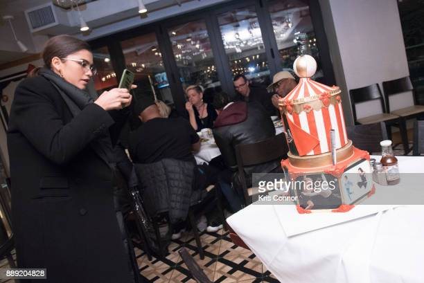 Singer and Actress Zendaya takes photo of her Cake by BCakes NY for Bobby Van's CPS at Bobby Van's CPS on December 9 2017 in New York City