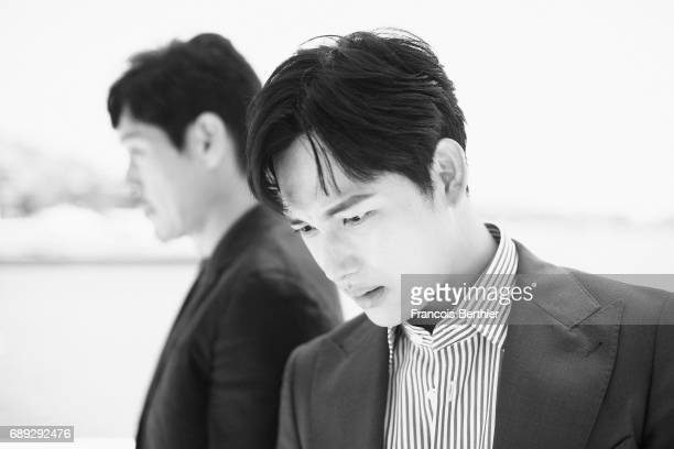Singer and actro Im Siwan is photographed on May 24 2017 in Cannes at Majestic Beach France