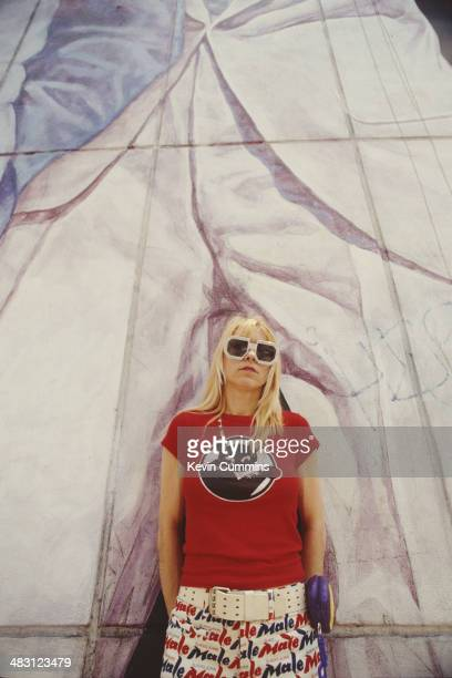 Singer and bassist Kim Gordon of American alternative rock group Sonic Youth New York City 17th June 1992