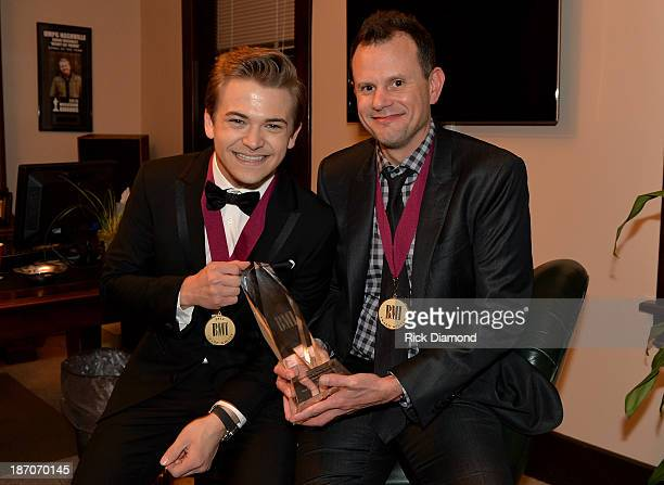 Singer and Cosongwriter Hunter Hayes and Cosongwriter Troy Verges attend Universal Music Publishing Group Nashville's BMI Awards After Party with...