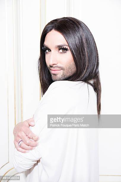 Singer and drag queen Conchita Wurst aka Thomas Neuwirth is photographed for Paris Match on June 19 2015 in Paris France
