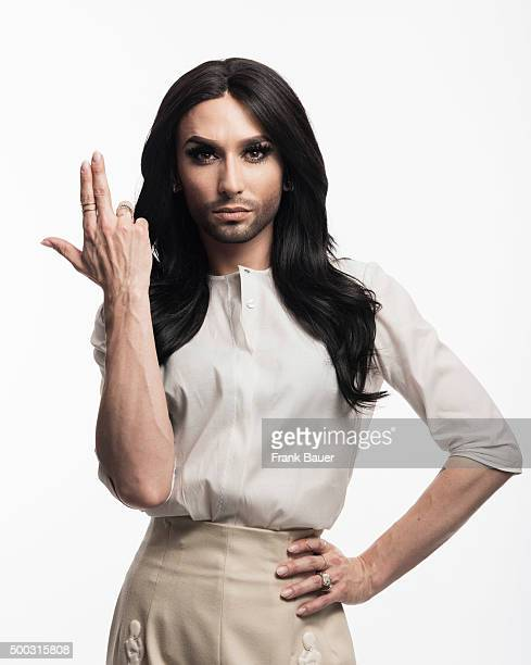 Singer and drag queen Conchita Wurst aka Thomas Neuwirth is photographed for SonntagsZeitung on February 27 2015 in Munich Germany