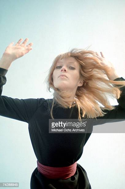 Singer and entertainer Nico poses for a portrait session in circa 1967