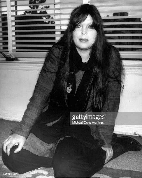 Singer and entertainer Nico poses for a portrait session in Paul Morrissey's apartment in 1980 in Los Angeles California