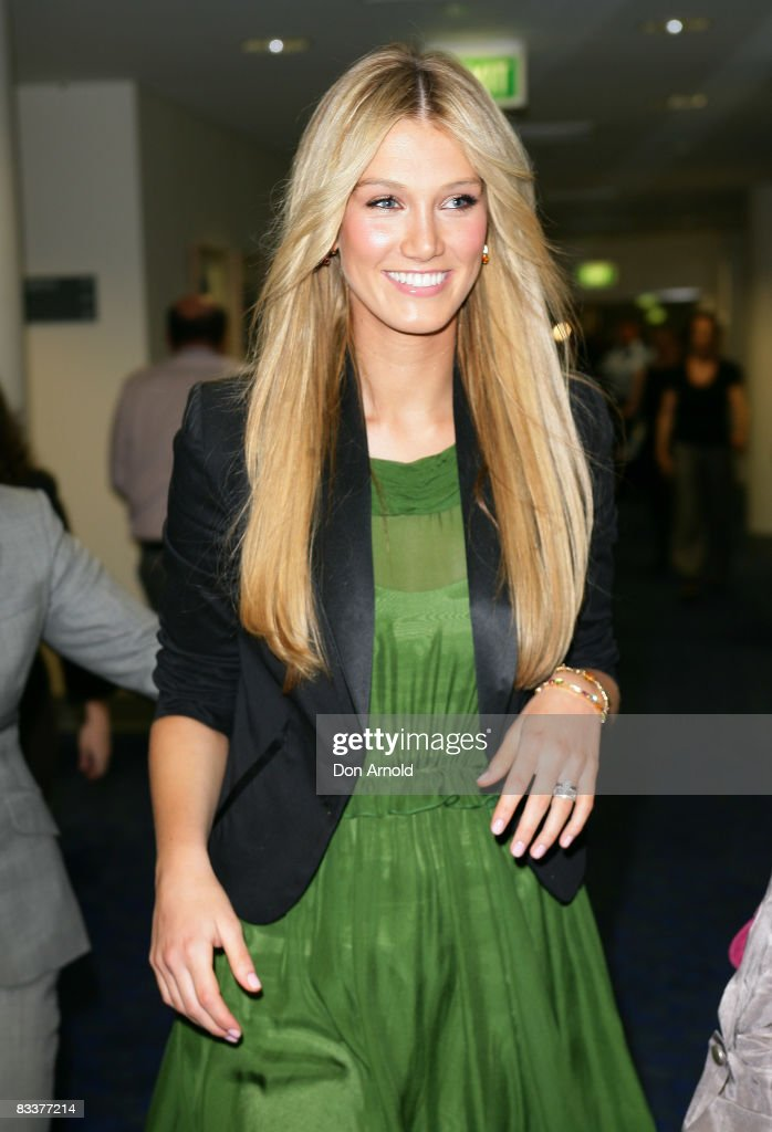 Singer and former cancer patient Delta Goodrem arrives for a press conference to raise funds for the new AUD100 million Cancer Centre being built at St Vincent`s Hospital by The Garvan Institute of Medical Research, St Vincents and Mater Health Sydney, at St Vincents Hospital, Darlinghurst, on October 22, 2008 in Sydney, Australia.
