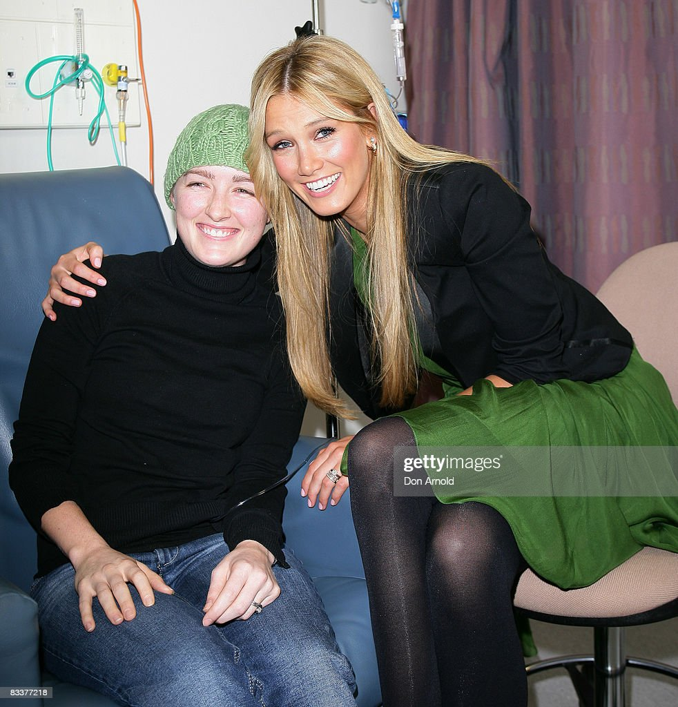 Singer and former cancer patient Delta Goodrem meets leukemia patient Hailey, aged 27 as she announces plans for the new AUD100 million Cancer Centre, an initiative from The Garvan Institute of Medical Research, St Vincents & Mater Health Sydney, at the St Vincent`s Research Precinct of St Vincent`s Hospital on October 22, 2008 in Sydney, Australia. The singer, who will be the Patron of the new Centre, was a patient of St Vincent`s Campus 5 years ago when she was treated for Hodgkin`s Lymphoma.