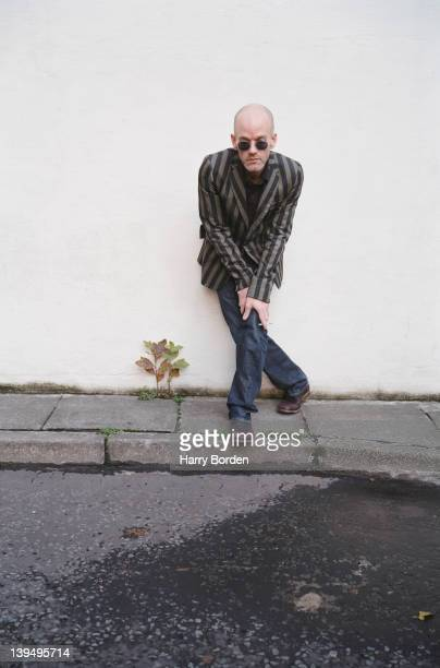 Singer and former member of rock band REM Michael Stipe is for Attitude magazine on October 13 2003 in London England