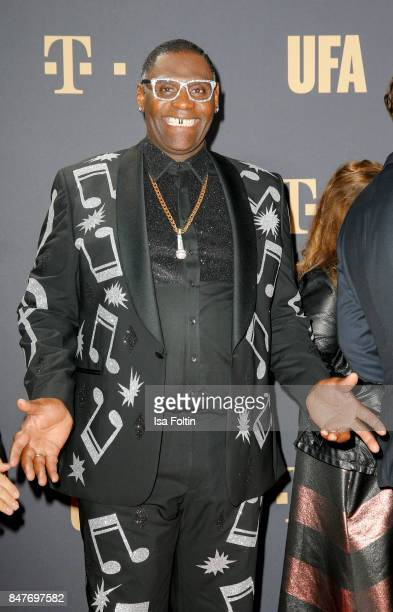 US singer and German DSDS winner Alphonso Williams attends the UFA 100th anniversary celebration at Palais am Funkturm on September 15 2017 in Berlin...