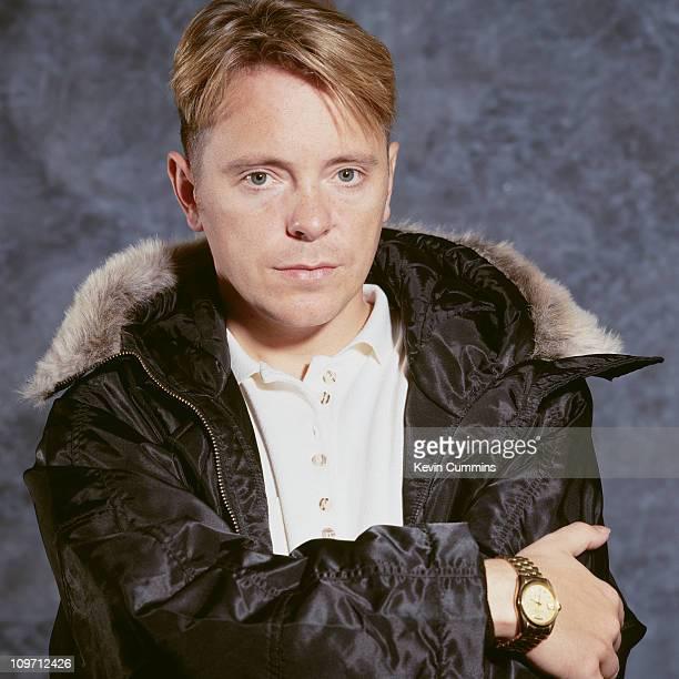 Singer and guitarist Bernard Sumner of English rock group New Order December 1990
