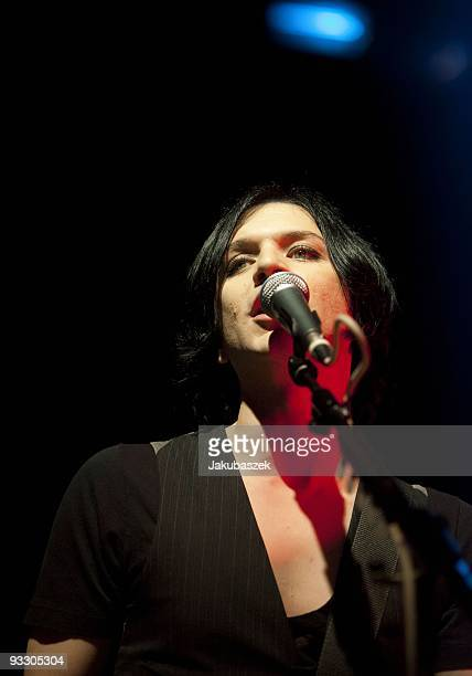Singer and guitarist Brian Molko of the rock band Placebo performs live during a concert at the Arena on November 22 2009 in Berlin Germany The...