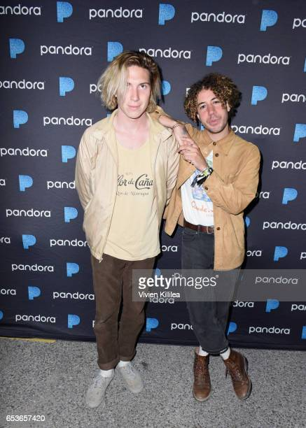 Singer and guitarist Danny Miller and drummer/producer Max Harwood of Lewis Del Mar attend Pandora at SXSW 2017 on March 15 2017 in Austin Texas