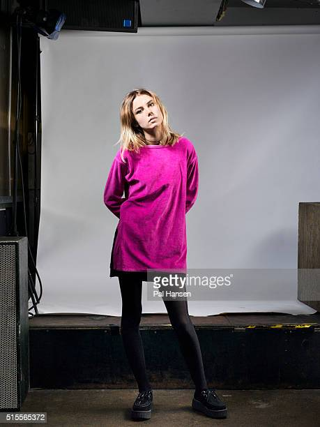 Singer and guitarist Ellie Rowsell with indie band Alice Wolf is photographed for Under the Radar magazine on October 30 2015 in London England