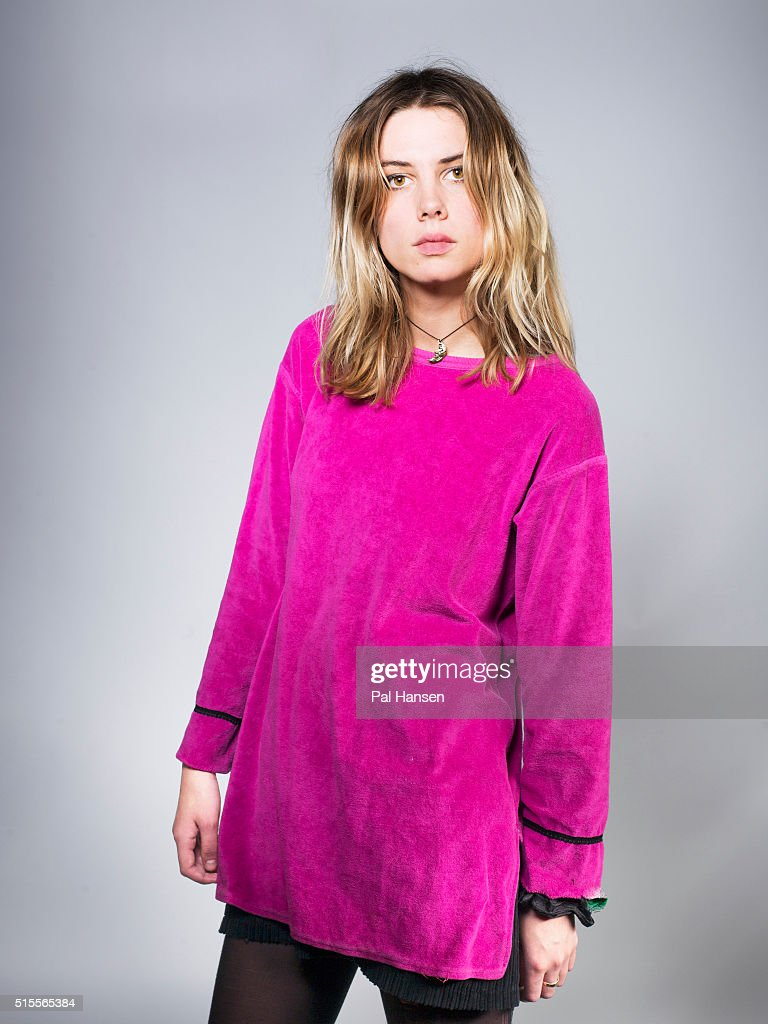 Singer and guitarist Ellie Rowsell with indie band Alice Wolf is photographed for Under the Radar magazine on October 30, 2015 in London, England.