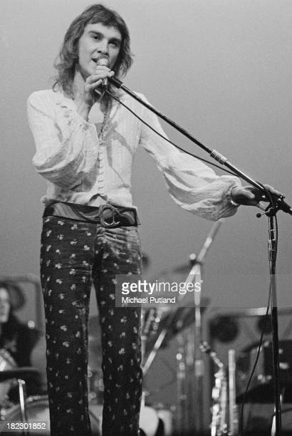 Singer and guitarist Franco Mussida performing with Italian progressive rock band Premiata Forneria Marconi at the Roundhouse London 24th June 1973