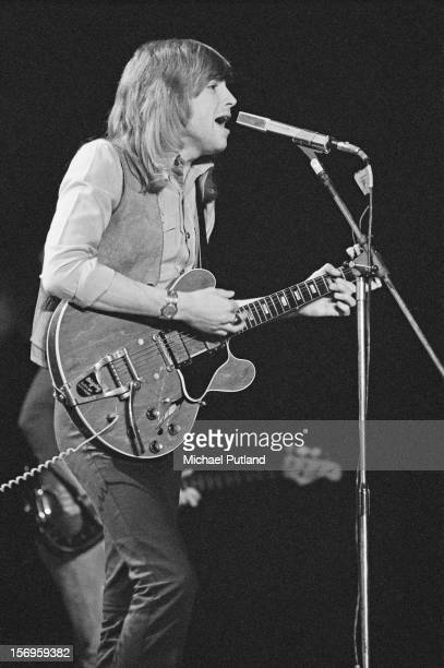 Singer and guitarist Justin Hayward from English rock band The Moody Blues performs at the Empire Pool Wembley London UK 22nd April 1972