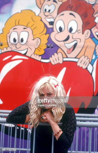 Singer and guitarist Kat Bjelland of American punk rock band Babes In Toyland at the Dreamland amusement park Margate Kent UK July 1992 Photo by...