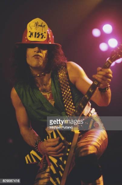 Singer and guitarist Paul Stanley of American rock band Kiss circa 1977