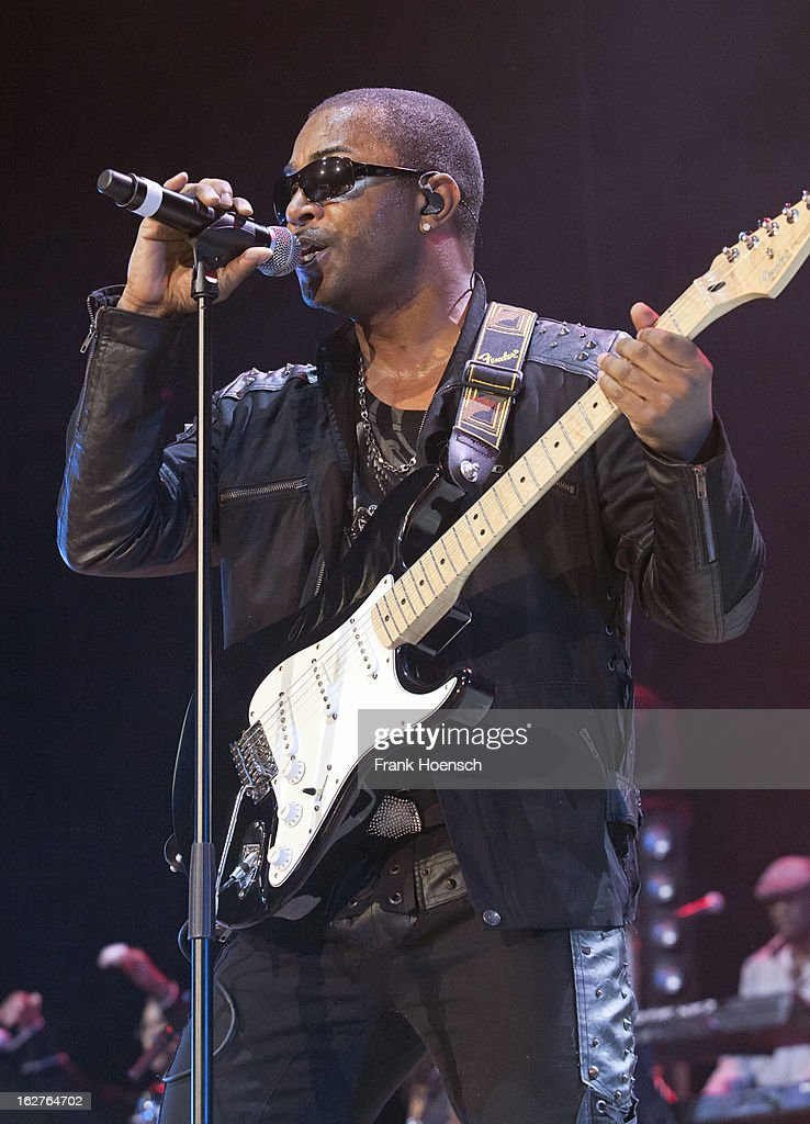 Singer and guitarist Shawn McQuiller of Kool and the Gang performs live during 'Die ultimative Chartshow Live On Stage' at the Max-Schmeling-Halle on February 25, 2013 in Berlin, Germany.
