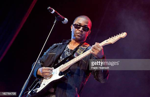 Singer and guitarist Shawn McQuiller of Kool and the Gang performs live during 'Die ultimative Chartshow Live On Stage' at the MaxSchmelingHalle on...