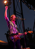 Singer and guitarist Stephen Malkmus of Pavement performs during the 2010 Pitchfork Music Festival at Union Park on July 18 2010 in Chicago Illinois
