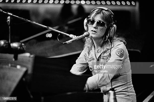 Singer and keyboard player Christine McVie of BritishAmerican rock band Fleetwood Mac in a recording studio in New Haven Connecticut USA October 1975