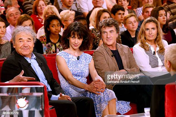 Singer and main guest of the show Pierre Perret Team of the movie 'Une Rencontre' actors Sophie Marceau Francois Cluzet and actor/director Lisa...