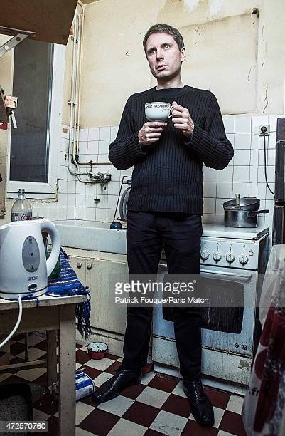 Singer and musician Alex Kapranos is photographed for Paris Match on March 24 2015 in Paris France