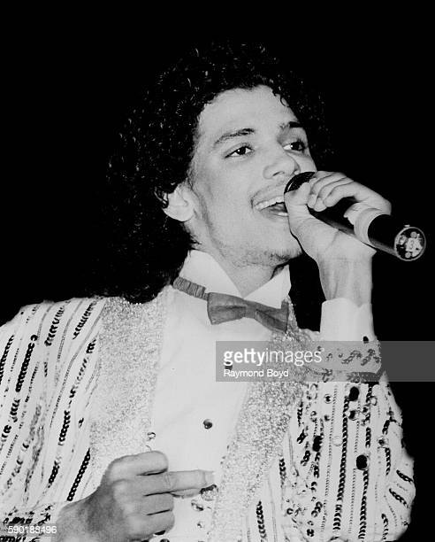 Singer El DeBarge performs at the Holiday Star Theater in Merrillville Indiana in January 1983
