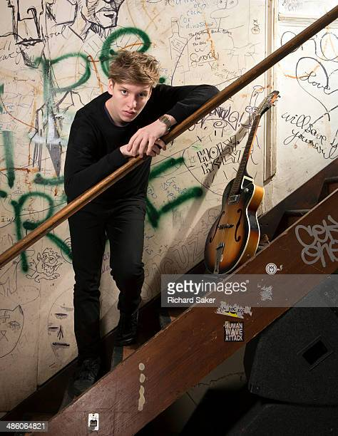 Singer and musician George Ezra is photographed for the Observer on February 5 2014 in London England